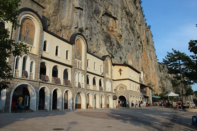 Ostrog klooster vlakbij podgorica